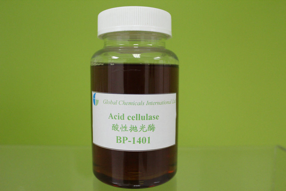Acid Cellulase Bio-polishing Enzyme , Yellow Liquid Textile Auxiliary Agents Enzymes